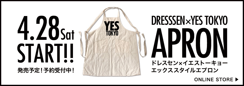YES TOKYO エプロン